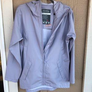 Columbia Light Purple Rain Slicker Coat Size Small